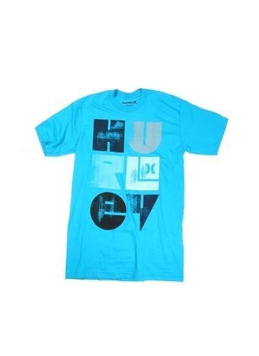 Limon Company Hurley Baskılı Erkek Kısa Kollu Tshirt Mavi